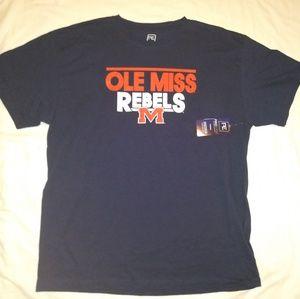 Ole Miss Rebels Fan Tee Shirt By Pro Edge
